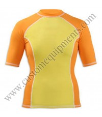 Yellow Ladies Rash Guard