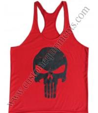 Skull Red Gym Singlet